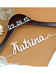 Deluxe Personalized Wedding Dress Hanger, Custom Bridal Bridesmaid Hanger