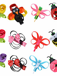 12 Pcs Rose Flower Animal Grosgrain Ribbon Flower Hair Clips Boutique Hairbows Allige Hair Clip Handwear Hair Bows AC034