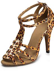 Zapatos de baile (Negro/Leopardo) - Salsa - No Personalizable - Tacón de estilete