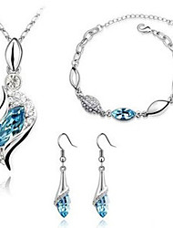 Original Women's Fashion Elegant Flash Diamond Crystal  Jewelry Set