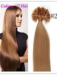 Cheap Brazilian Virgin Pre-bonded Hair Keratin Nail Hair U Tip Hair Extensions 1G/S 50G/PC 1Pc/Lot In Stock