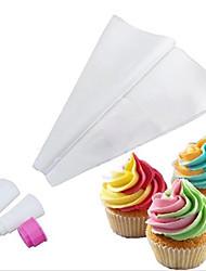 два тона двойной цвет обледенения трубопроводов мешок глазурь кекс торт украшения инструменты (случайный цвет)