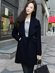 Women's  Spring New Lapel Long Sleeve All Match Loose Coat