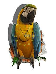 PAG®Modern Design 3D Effect Parrot Pattern Clock Sticker 14.96*24.72 in