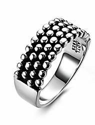 Fine Jewelry Retro European & American Fashion Personality Exaggerated Rivets 925 Sterling Silver Wedding Rings for men