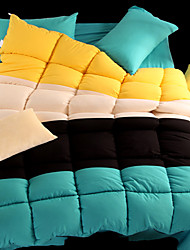 yuxin®spring noyau de couette quatre couleurs de sort épaisse super doux édredon de plume de velours de l'hiver pour le roi / reine /