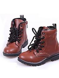 Boys' Shoes Casual Faux Fur Boots Black/Brown