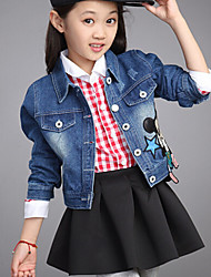 Girl'S Cartoon Denim Jacket