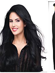 note 5a 1pc / lot 16 pouces / 40cm multicolores fusion droite / u Astuce extension de cheveux cheveu humain tisse 0,4 g / l