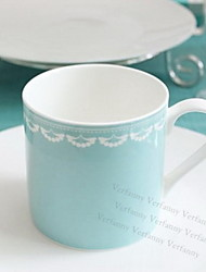 "Tiffany  Creative The Wedding Gift Cup  Milk Cup Coffee Cup Spoon Cup  Coffee  Bone China 3.5""*3.5""*3.5"""