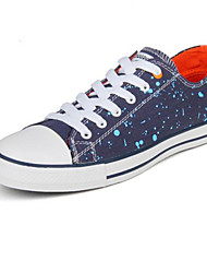 Zapatos de Hombre - Sneakers a la Moda - Casual - Tela - Azul / Negro