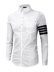 Men's Designer Long Sleeve Casual  Slim Shirt
