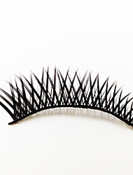 1 Eyelashes lash Full Strip Lashes Eyes The End Is Longer Lifted lashes Machine Made Fiber Black Band 0.05mm 10mm