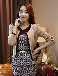 Women's Casual Long Sleeve Cardigan , Nylon Medium