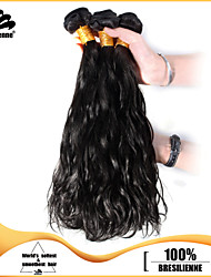 "3pcs/lot 12""-30"" Brazilian Virgin Hair Natural Black Natural Wave Human Hair Extensions Hair Weaves Tangle Free"