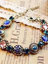 New Arrival Fashional Retro Popular Flower Crystal Bracelet