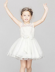 BHL New Children Girls Sleeveless White Princess Wedding Evening Dresses Ball Gown Dress Event Party Show Dress 3M~6Y