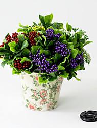 небольшие пять вилка ягоды Букет ткань цветы (1шт)