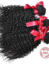 EVET Brazilian Curly Virgin Hair Extensions 3 Bundles Kinky Curly Human Hair Weave Brazilian Weft 100g/pc Free Shipping