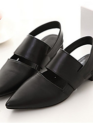 Women's Shoes  Flat Heel Open Toe Sandals Casual Black/White