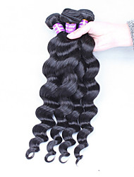 3 Pieces Loose Wave Human Hair Weaves Peruvian Texture 300 8 Human Hair Extensions