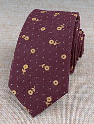 Gravatas (Vinho , Algodão) Estampado