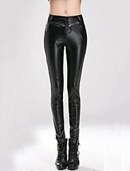 AIMENGYA®Women High Waist Bodycon Thin PU Long Pants , Microelastic Without Lining