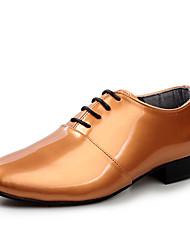 Oxfords ( Cuero Patentado , Negro/Dorado/Plateado Zapatos de hombre