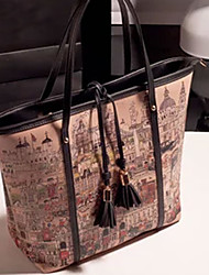 Lady Women Work/Casual Tote Bag , PU/Leather Leather