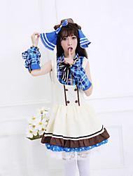 Love Live! Umi Sonoda White Sleeveless Cosplay Costumes