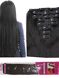 Ibeshion Human Hair 120 grams 8 pcs 17 Clips Clip In Hair Extensions #1b #2 #4 #6 Brazilian Human Hair