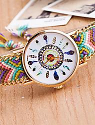 Kairui Women'S Peacock Feather Woven Watch