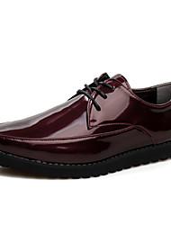 Oxfords ( Cuero , Negro/Naranja/Blanco/Vino Zapatos de hombre