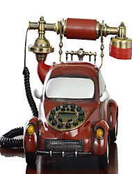 Novelty Hot Sell Home Decor Red Car Antique Telephone