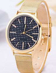 Fashion Watch Women Gold Watch Golden Strip Vintage Check Watch