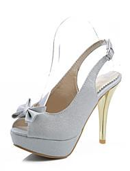 Women's Shoes Stiletto Heel Heels/Peep Toe Sandals Wedding/Dress/Casual Pink/Purple/White/Silver