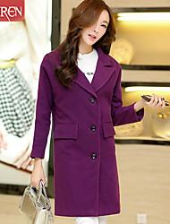 Muairen®Women'S European Style Woolen Coat Jacket Slim