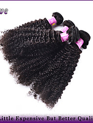 "4Pcs/Lot 10""-28"" Peruvian Virgin Hair Natural Black Color Kinky Curly Unprocessed Human Hair Weaves Rosa Hair Products"