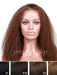 12''-26''Hot Sale Long Kinky Curly European Virgin Hair Lace Front Wigs With Baby Hair For Black Women