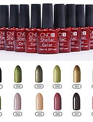 1PCS Sequins UV Color Gel Nail Polish No.37-48 Soak-off(10ml,Assorted Colors)