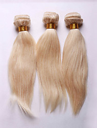 Smilco Hair 613 bleached Blonde Brazilian Remy Human Hair body wave weaves wavy extensions machine weft 3 bundles