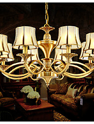 MC051-8H Wholesale Norble Solid 8 lights Antique Brass Chandelier