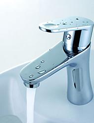 warpeu® contemporânea única alça de cromo polido bronze convés bancada montada misturador de lavatório torneira do banheiro torneira