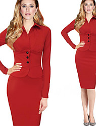 Women's Dresses , Knitwear/Viscose rayon Bodycon/Party Long Sleeve Jimi