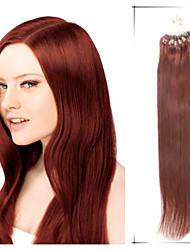 "1Pc/Lot 24"" 1.4g/s Maxim Volume Brazilian Virgin Hair Straight  Loops Hair Crochet Extensiones De Cabello"