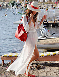 Hot Sale Long Sleeve Solid Summer Dress 2015 New Fashion T-shirt Bikini Cover up High Quality on Sale Beach Cover Ups