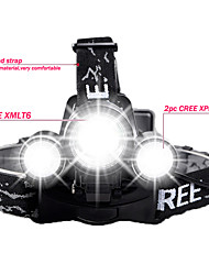 Lights Bike Lights LED Lumens 4 Mode Cree XM-L T6 / Cree R2 18650 Waterproof / RechargeableCamping/Hiking/Caving / Everyday Use /