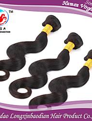 trama dei capelli umani remy briazilian vergine 100% seta di vendita tre 6a fasci caldo colore naturale diritto