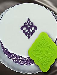 fondant silicone colar de goma bolo decoração bolo molde do bolo de decoração estêncil filigrana molde do damasco medalhão onlay