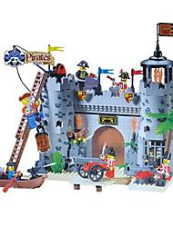 iluminar piratas roubam caserna building blocks castelo conjuntos 366pcs DIY tijolos de construção brinquedos